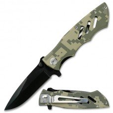 Camo Spring Assisted Folding Knife