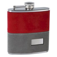 "6oz 2-Tone ""Fuzzy"" Hip Flask with Engraving"