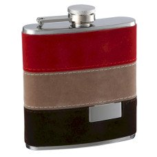 6oz Felt Wrapped Hip Flask with Personalization
