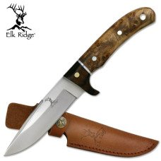 Burl Wood Hunting Knife
