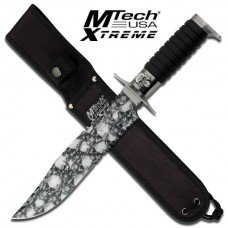 Fixed Blade Knife with Skull Camouflaged Blade