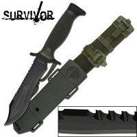 SURVIVOR SURVIVAL KNIFE WITH ABS SHEATH