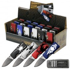 Assorted 24pc Money Clip Knives in Counter-Top Display