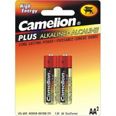 AA Plus Alkaline Batteries, 2 Pack