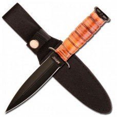 Fixed Black Blade Knife by Mtech