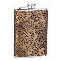 8oz Paisley Design Flask