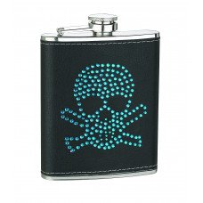 6oz Blue or Red Skull Head Flask