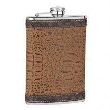 8oz Brown Pattern Flask