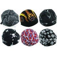Cotton Skull Caps, Assorted