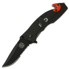 Black Firefighter Knives