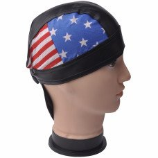 Faux Leather American Flag Do Rag