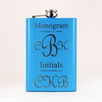 Baby Blue Custom Engraved Flasks