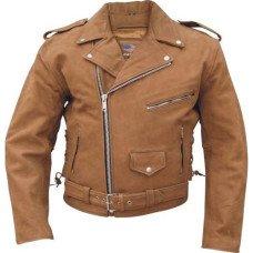 Brown Leather Motorcycle Jacket