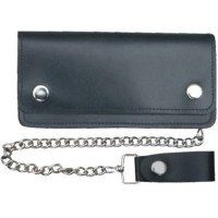 6 Inch Leather Chain Wallet