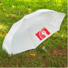 White Compact Umbrella with Custom Logo