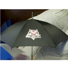 "Custom Logo Black 48"" Umbrella"