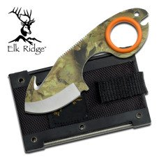 Camouflage Fixed Blade Ring Knife