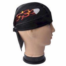 Flaming Comet Skull Cap
