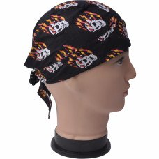 Fiery Skulls Do Rag