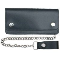 Leather Motorcycle Chain Wallet