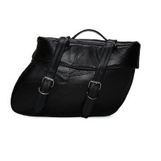 2pc Leather Motorcycle Saddle Bags