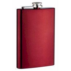 Neon Red 8oz Hip Flasks