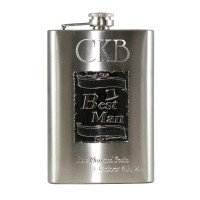 Custom Engraved Best Man Wedding Flasks