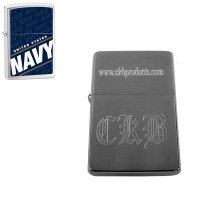 Personalized Navy Zippo Lighter
