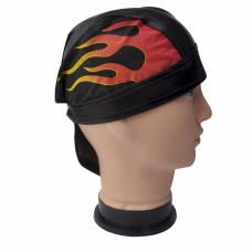 Red Flame Skull Cap