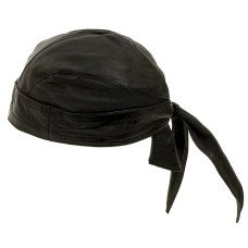 Leather Motorcycle Skull Cap