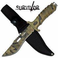 Survivor Camo Hunting Knife