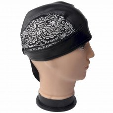 White Pattern Design Skull Cap