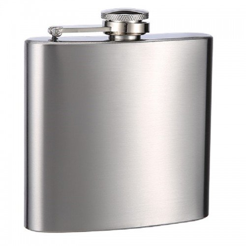 "6oz ""Upgraded"" Hip Flask - Overstock Sale"