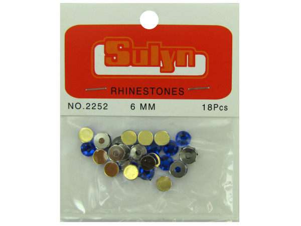 Sapphire Rhinestones with Mounts