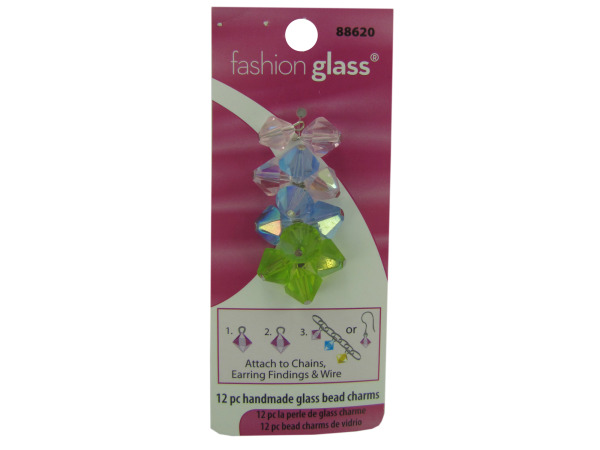 Handmade Pastel Glass Bead CHARMs