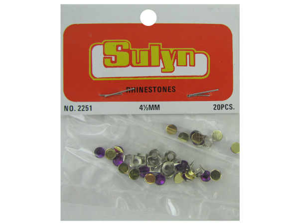 Purple Craft RHINESTONEs