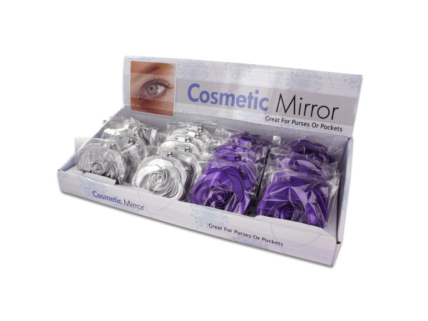 Rosette Design Cosmetic MIRROR Countertop Display