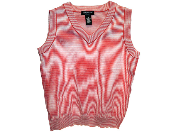 Red Striped VEST Assorted Sizes