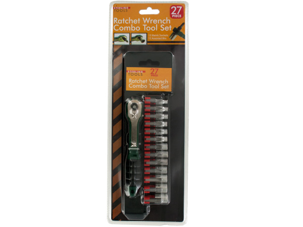 27-Piece Ratchet WRENCH Combo Tool Set