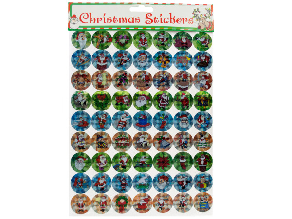 Holographic Christmas Stickers Set