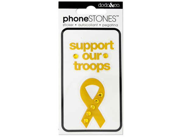 Support Our Troops PHONE Stones Stickers