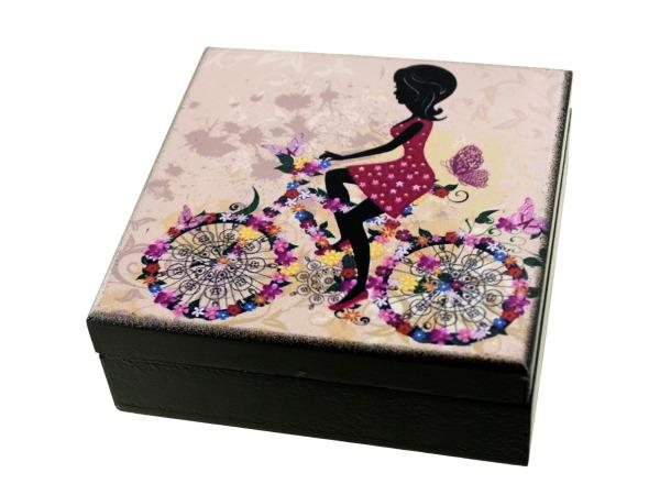 Whimsical Girl Wooden TRINKET BOX