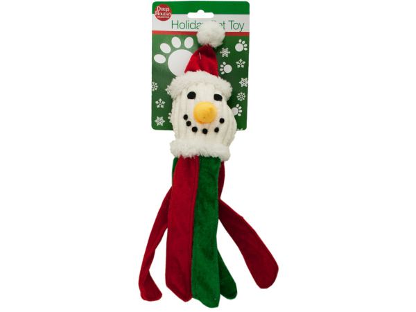 Plush HOLIDAY Dog Toy with Crinkle Strips