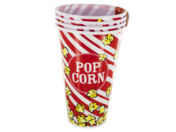 33 oz. Red Popcorn Bucket Cups Set