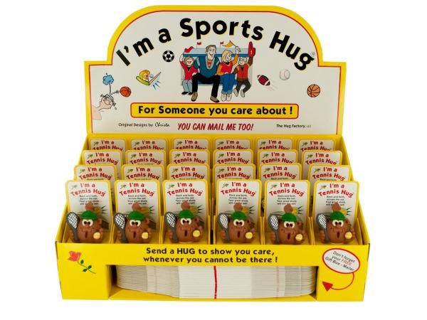 Tennis Hug FIGURINE with Gift Boxes Countertop Display