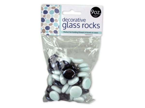 Black & White Decorative Glass Rocks