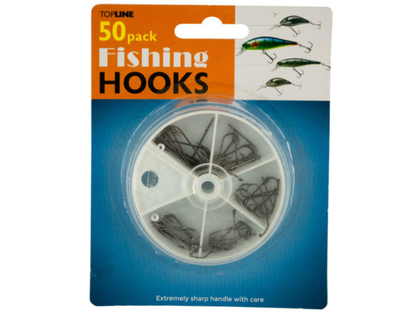 FISHING Hooks Set in Divided Case