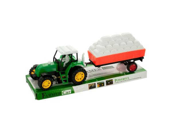 Friction Farm Tractor TRUCK & Trailer Set