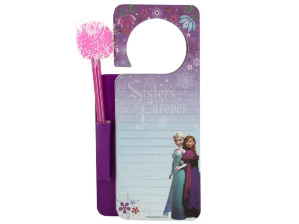 Disney Frozen Door Hanger Memo Pad & Pen Set