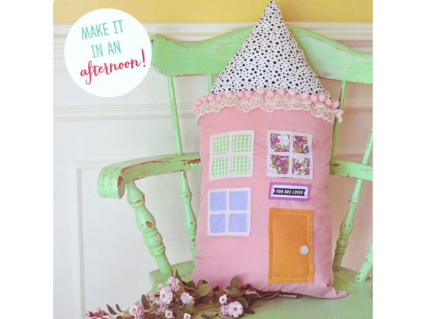 Crafternoon DIY House PILLOW Craft Kit